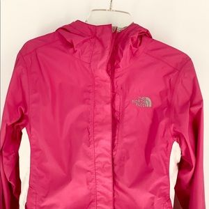 The North Face Pink Rain Jacket Hoodie Small